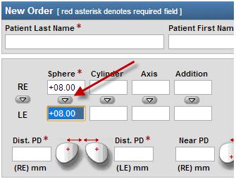 optometrist product ordering