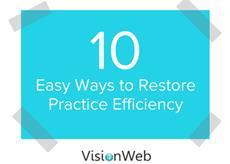 "new eBook ""10 Easy Ways To Restore Practice Efficiency"""