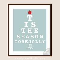 Christmas Eye Chart  Tis The Season To Be Jolly  by SprinkledJoy, $13.95