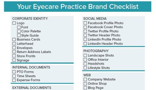 eyecare practice brand checklist