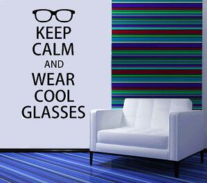 wear cool glasses decal